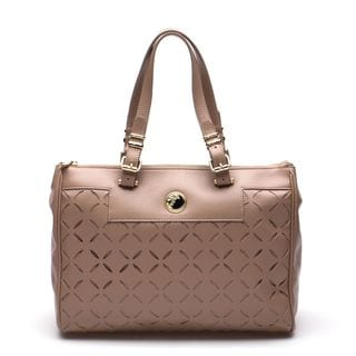 Versace Collection Beige Laser Cut Tote