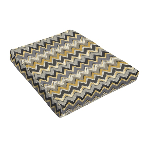 Sloane Chevron Nightfall Outdoor Tapered Chair Cushion (Set of 2) 17683572