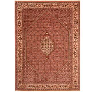 Herat Oriental Persian Hand-knotted Bidjar Red/ Ivory Wool Rug (8'2 x 11'1)
