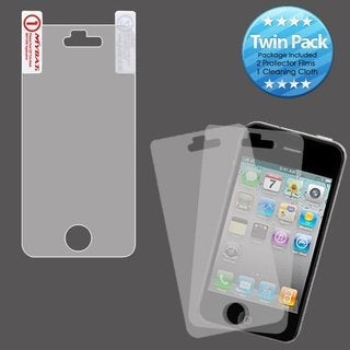 MYBAT IPHONE4LCDSCPRTW LCD Screen Protector for Apple iPhone 4/4S Twin Pack
