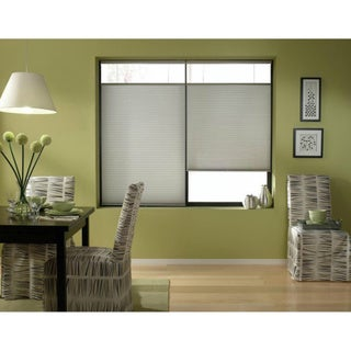 Silver 25 to 25.5-inch Wide Cordless Top Down Bottom Up Cellular Shades
