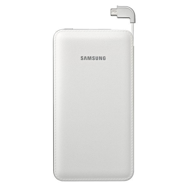 Samsung Portable 6000mAh Micro USB Rechargeable Battery Pack White CHARGE 2 DEVICES AT ONCE