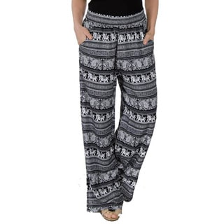 Special One Women's Bohemian Printed Palazzo Pants with Elastic Waistband and Pockets