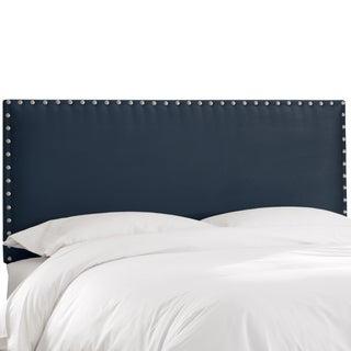 Skyline Furniture Premier Navy Nail Button Border Headboard