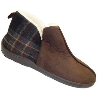 Vecceli Men's Brown Flannel Slip on Shoes