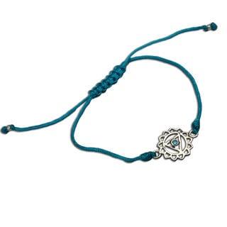 Throat Chakra Turquoise Adjustable Charm Bracelet (India)