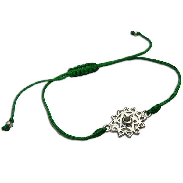 Heart Chakra Green Adjustable Charm Bracelet (India)