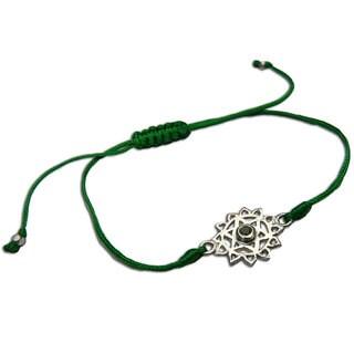 Heart Chakra Green Adjustable Charm Bracelet (India)