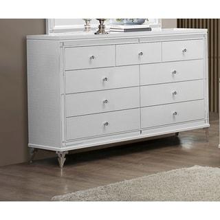 White Metallic Dresser