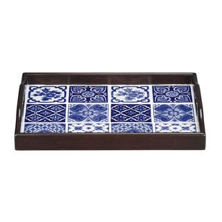 Blue & White Tile Tray