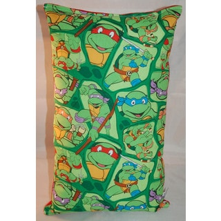 Lillowz Teenage Mutant Ninja Turtles Reversible 9 inch x 16 inch Rectangular Throw Pillow