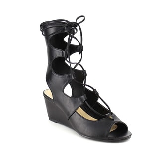 Beston DB24 Women's Lace Up Wedges
