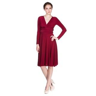 Von Ronen New York Women's Short Victoria Long Sleeve Convertible Dress