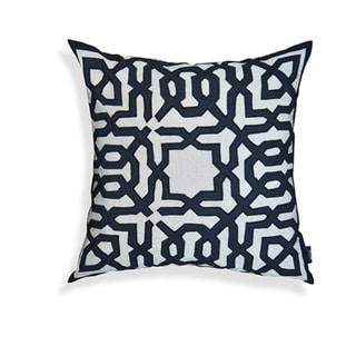 Leo Black/ Off-white 20-inch Throw Pillow