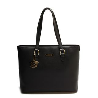 Versace Collection Black Large Pebble Leather Tote