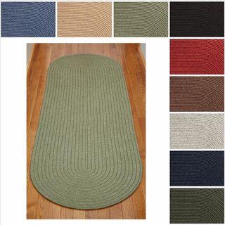 Rhody Rug Woolux Wool Runner Braided Rug (2' x 6')