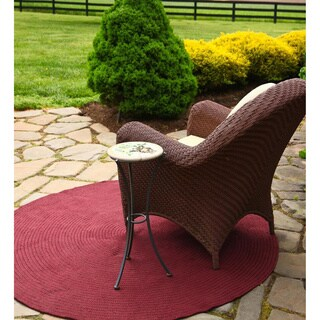 Rhody Rug Madeira Indoor/ Outdoor Braided Rug (6' Round)