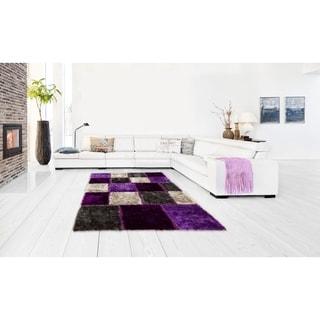 Lyke Home Hand Tufted Lilac Silkbright Yarn (8' x 11')