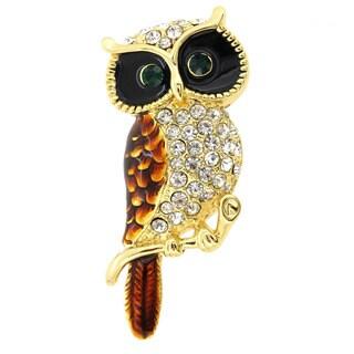 Owl Enamel Bird Pin Brooch