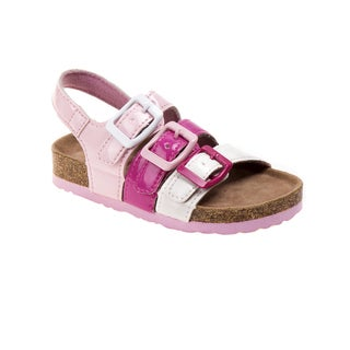 Rugged Bear Toddler Girls' Chunky Buckle Strap Sandals