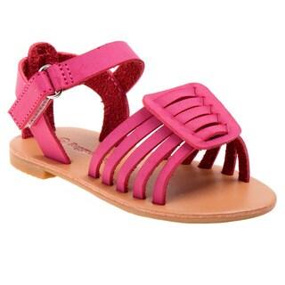 Rugged Bear Toddler Girls' Multi-Strap Sandals