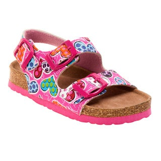 Rugged Bear Toddler Girls' Multicolor Chunky Strap Sandals