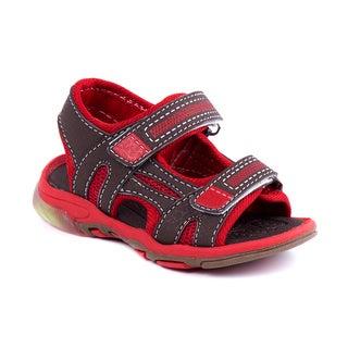 Rugged Bear Toddler Boys' Mesh Light-up Sandals
