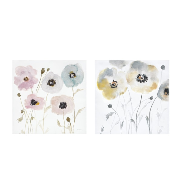 Madison Park Pastel Garden Hand Embellished Canvas 2-Piece Set