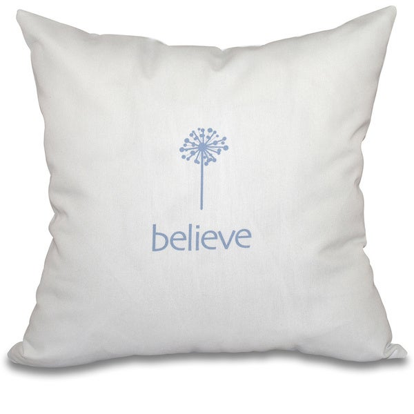 Make a Wish Word Print 26-inch Throw Pillow