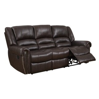 Chocolate Brown Reclining Sofa