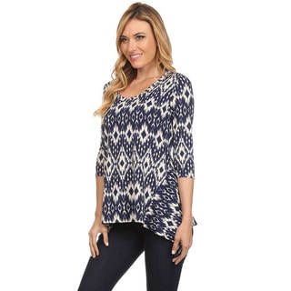 MOA Collection Women's Ikat Print Top