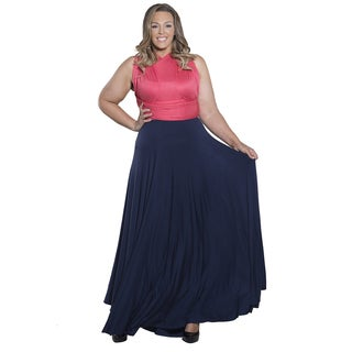 Sealed with a Kiss Women's Plus Size Eternity Convertible Duo Maxi Dress