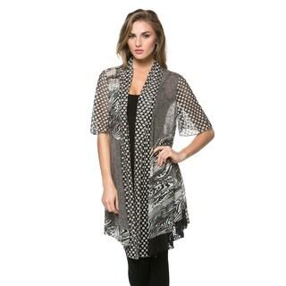 High Secret Women's Multi Fabric Cardigan