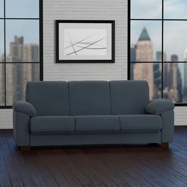 Portfolio Wrangler Convert-a-Couch Slate Blue Pebbles Futon Sleeper Sofa