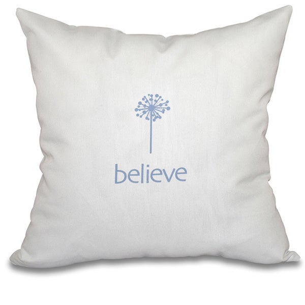 Make a Wish Word Print 20-inch Throw Pillow