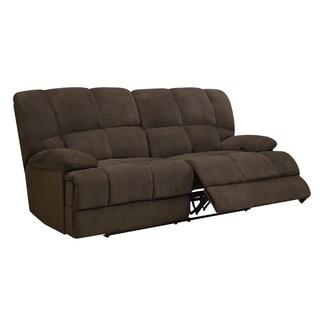 Chocolate Microfiber Reclining Sofa