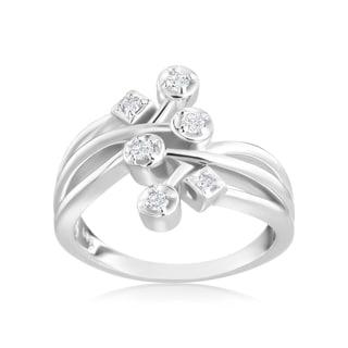Andrew Charles 14k White Gold 1/6ct TDW Diamond Fashion Ring (H-I, SI1-SI2)