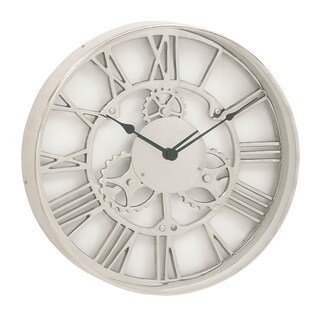 Industrial Aluminum 18-inch Round Wall Clock