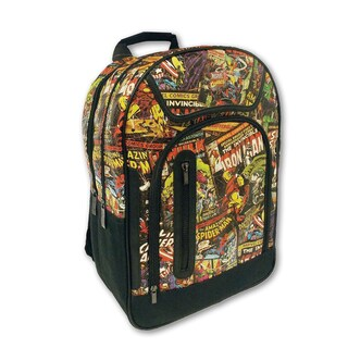 Marvel Comics Vintage Print Black Backpack