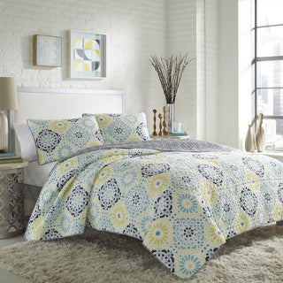 City Scene Stardust Cotton Quilt Set