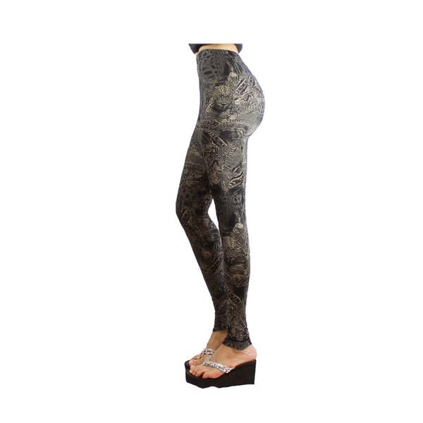 Le Nom Women's Soft Touch Vintage Style Leggings