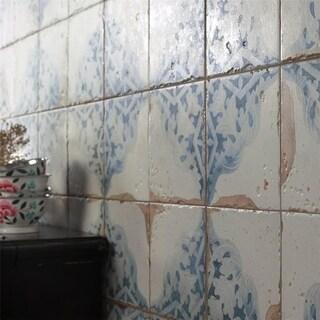 SomerTile 13x13-inch Artesano Azul Décor Ceramic Floor and Wall Tile (Case of 10)