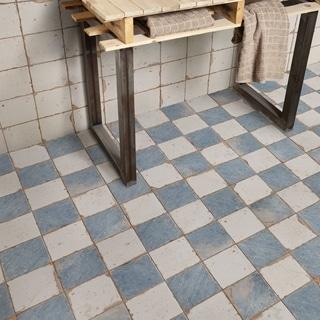SomerTile 13x13-inch Artesano Damero Azul Ceramic Floor and Wall Tile (Case of 10)