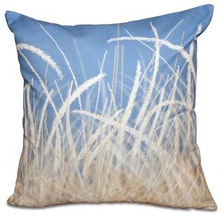 Sea Grass 1 Floral Print 16-inch Throw Pillow