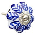 Blue Flowers Ceramic Drawer/ Door/ Cabinet Knob (Pack of 6)