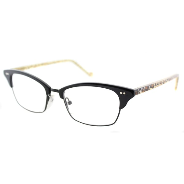 Lafont Patti 100 Black Plastic And Metal 50mm Eyeglasses