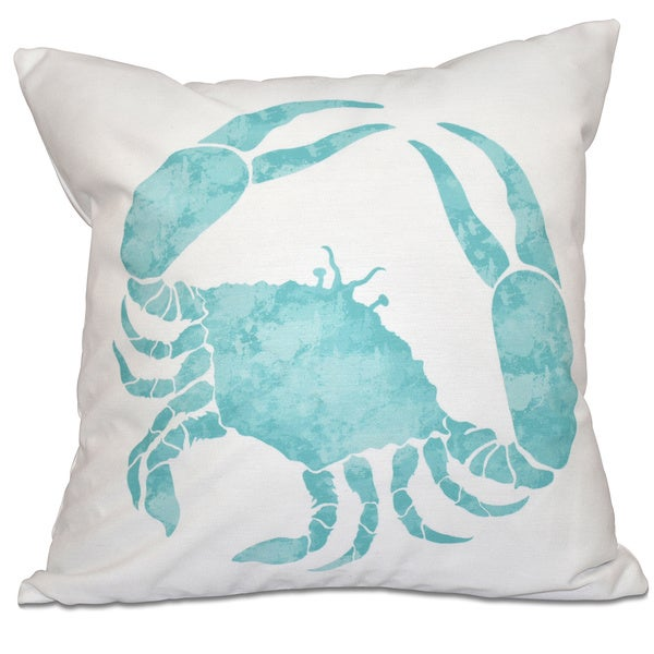 Crab Animal Print 16-inch Throw Pillow