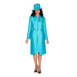 Ella Belle Women's 2-piece Long Jacket and Lace Dress Set
