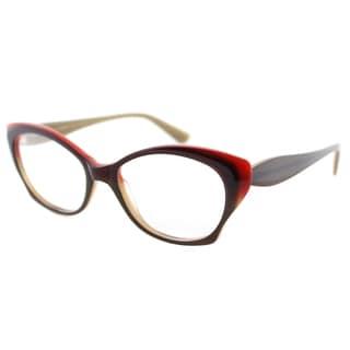 Lafont Petale 1013 Dark Eggplant Plastic Cat Eye 52mm Eyeglasses