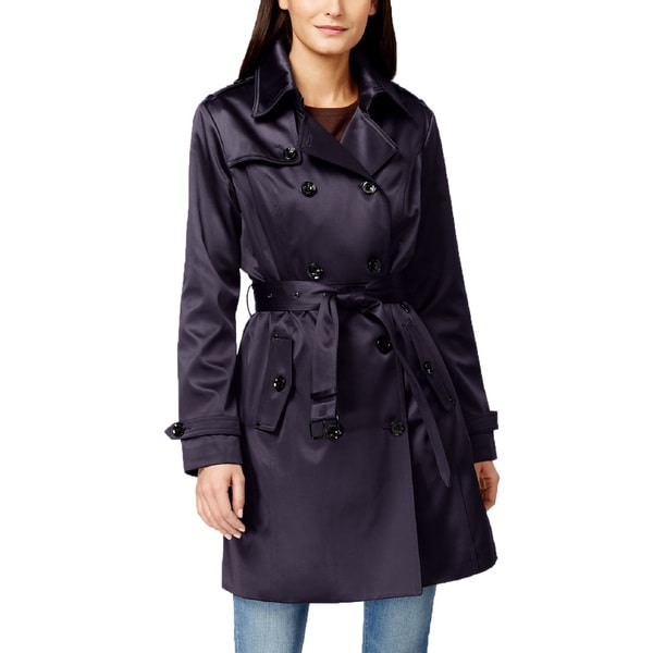 Michael Michael Kors Navy Satin Trench Coat